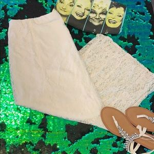 Ivory Lace Maxi